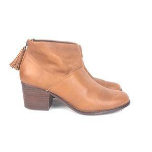 Toms Carpe Diem Tan Ankle Boots Size 8